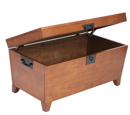 Home Reflections Mission Oak Pyramid Coffee Table Trunk