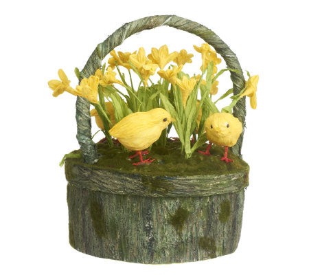 Daffodil with Chicks Basket by Valerie