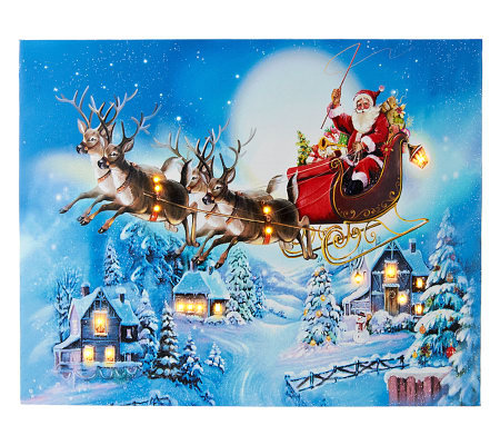 "Illuminart 16"" x 20"" Christmas Host Choice Canvas Art"