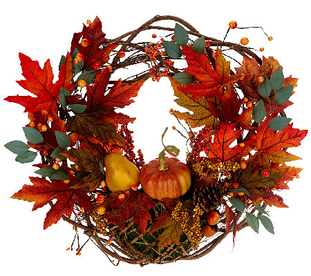 "Autumn's Bounty 20"" Wreath by Valerie"