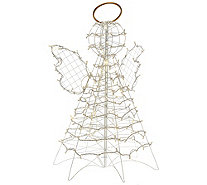 3' Fold Flat Outdoor LED Snowman or Angel by Lori Greiner - H206865