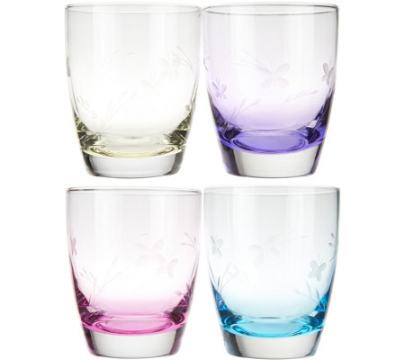Lenox (4) 12 oz. DOF Butterfly Meadow Assorted Glassware