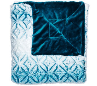 "Berkshire Blanket 50""x70"" Tipped Airblown Ombre Throw - H209065"