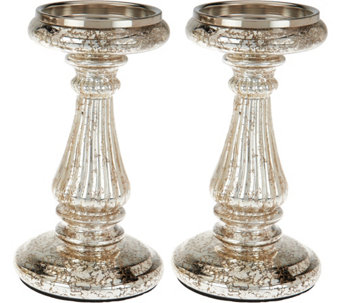 Set of 2 Candle and Taper Holder Pedestals by Valerie - H209765