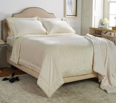 Casa Zeta-Jones Burnout Velvet Full Coverlet