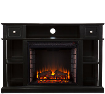 Wilson Media Console/Stand Electric Fireplace,Black - H282465