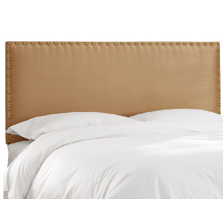 Nail Button Border Premier Fabric Headboard - California King
