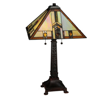 Meyda Tiffany-Style Prairie Wheat Harvest TableLamp
