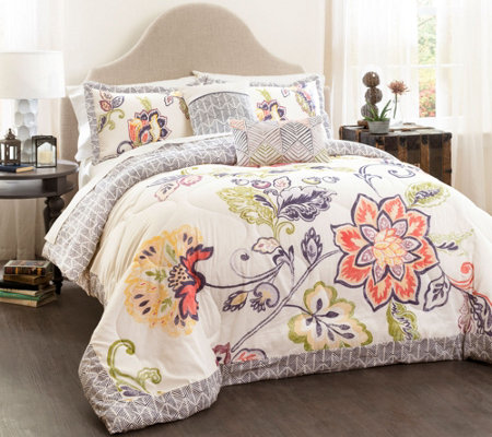 Aster 5-Piece Full/Queen Comforter Set by LushDecor