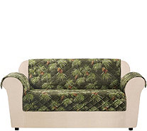 Sure Fit Holiday Plush Love Seat Furniture Cover - H292965