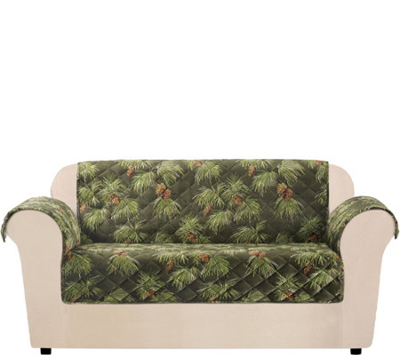 Sure Fit Holiday Plush Love Seat Furniture Cover