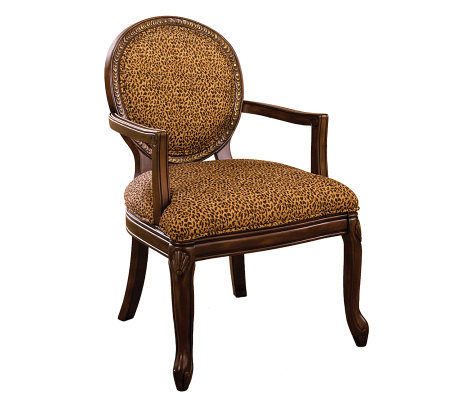 Wakefield Antiqued Walnut Finish Accent Chair