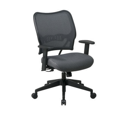 Office Star Charcoal Deluxe Chair with VeraFlex