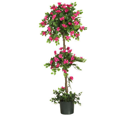 5' Mini Bougainvillea Topiary by Nearly Natural