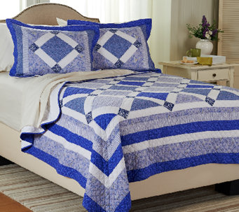 Blue Bell Twin 100% Cotton Quilt Set with Sham - H205866