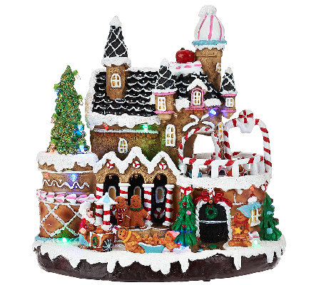 Outdoor Lighted Gingerbread House Decorations House Decor