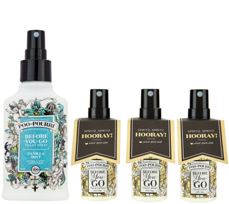 Poo-Pourri 4oz. Bathroom Deodorizer with (3) 1oz. Bottles