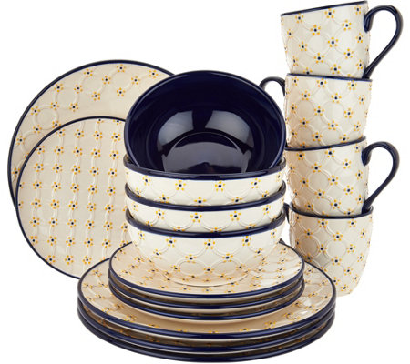 """As Is"" Temp-tations Old World Infinity 16 Pc. Dinnerware Set"