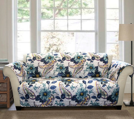 Floral Paisley Love Seat Furniture Protector byLush Decor