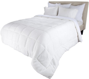 Lavish Home Reversible Down Alt. King Comforterwith Sherpa - H290766