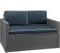Crosley Palm Harbor Gray Outdoor Loveseat - H295366