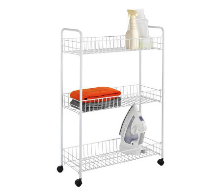 Honey-Can-Do 3-Tier All-Purpose Household Cart-White