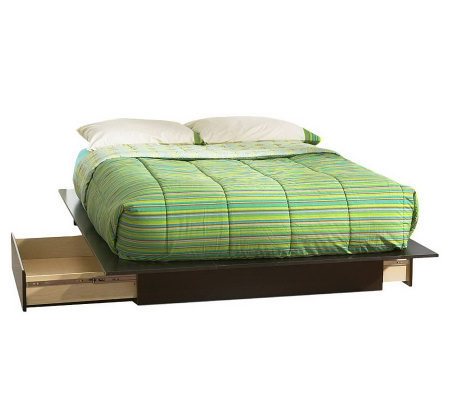 South Shore Step One Full/Queen Platform Bed w/Drawers