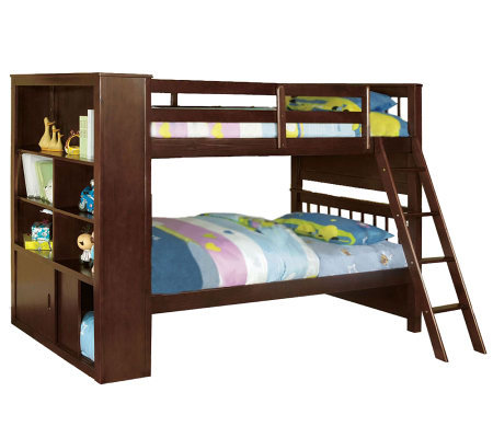 Dakota Bridge Twin/Twin Bookcase Bunkbed