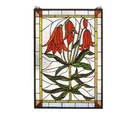 Tiffany Style Trumpet Lily Window Panel