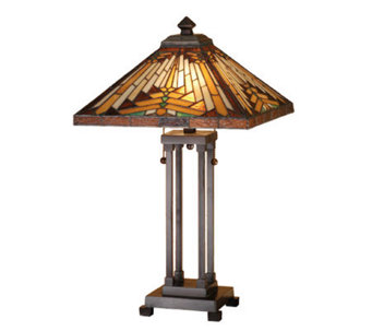 Tiffany-Style Southwest Mission Table Lamp - H159767