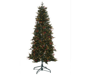"""As Is"" Bethlehem Lights 7.5' Lakewood Fir Christmas Tree - H208167"