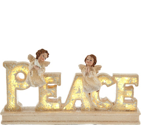 Inspirational Illuminated Word with Angels by Valerie