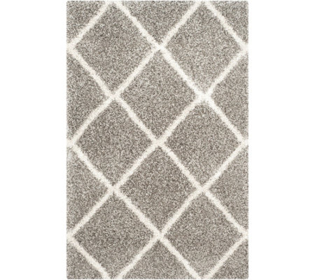 Safavieh 4'x6' Lattice Hudson Shag Area Rug