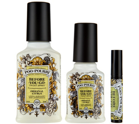 Poo-Pourri Secret Santa Before You Go Toilet Spray was a much needed addition to my household. The bottle is 2 fl oz although you can purchase a 1 fl oz size and even larger ones up to 8 fl oz in some stores.