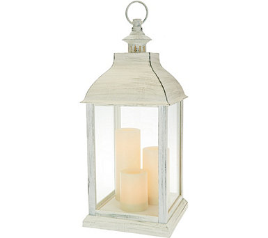 Candle Impressions Large Indoor/ Outdoor Lantern with 3 Candles - H213267