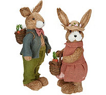 Anniversary 2-Piece Spring Sisal Bunny Couple by Valerie - H213767