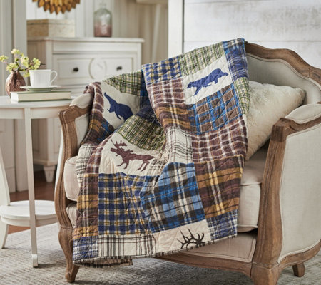"The Quilt Patch Lodge 50"" x 70"" Quilted Throw with Rod Pocket for Hanging"