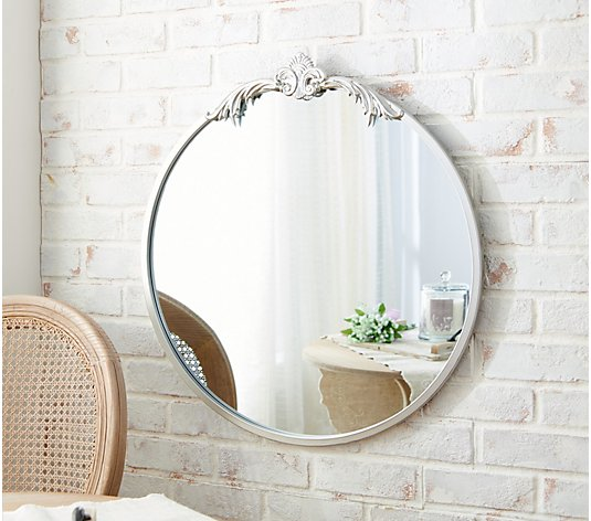 Home Reflections 27 Vintage Style, Chaz Modern Contemporary Beveled Bathroom Vanity Mirror