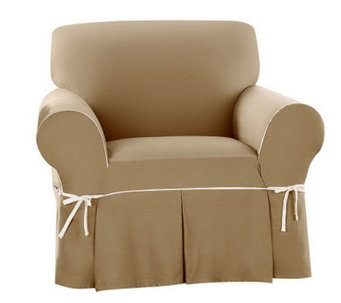 Sure Fit CVC Duck 1-Piece Chair Slipcover - H280967