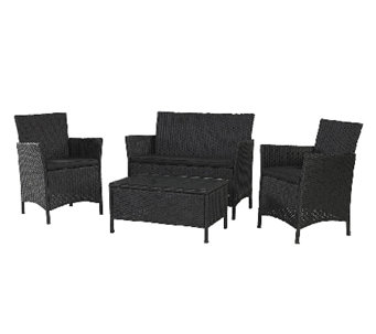 Cosco Outdoor Jamaica 4-piece Resin Wicker Convo Set - H282667
