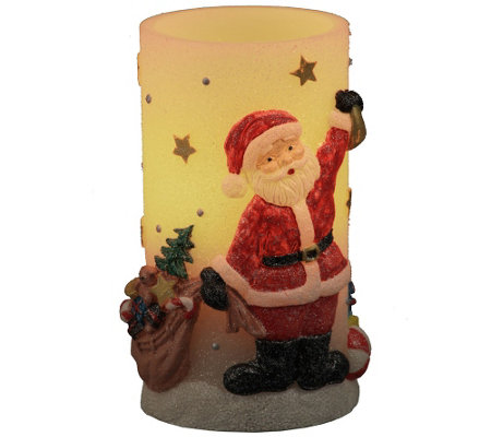 Home Reflections Handpainted Holiday Flameles sCandle