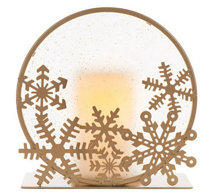 Candle Impressions Frosted Glass Silhouette Holder