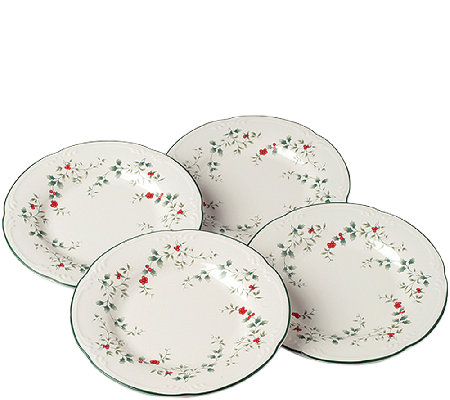 Pfaltzgraff Winterberry Salad Plates - Set of 4