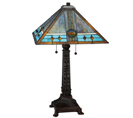 Meyda Tiffany-Style Mission Rose Table Lamp