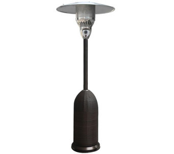 Hanover 7-ft 41,000 BTU Round Wicker Patio Heater - Black - H289867