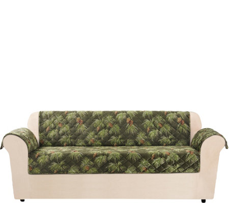 Sure Fit Holiday Plush Sofa Furniture Cover