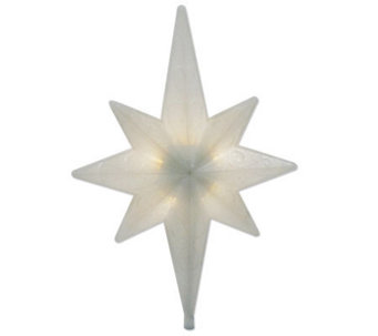 Battery Operated White LED Rotating Bethlehem Star Tree Toppe - H352067