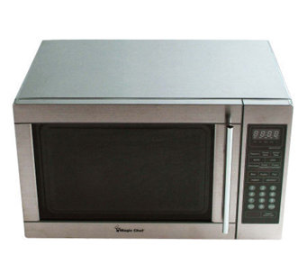 Magic Chef 1.3 Cubic Ft 1,100 Watt Stainless Microwave - H358967