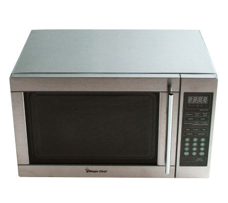 Magic Chef 1.3 Cubic Ft 1,100 Watt Stainless Microwave