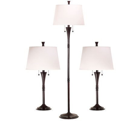 Kenroy Home Park Avenue Set of 3 Floor/Table Lamps